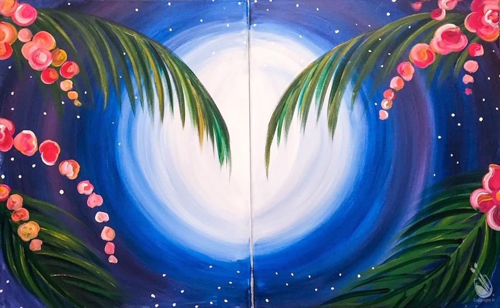 How to Paint Moonlit Palm Trees - Set