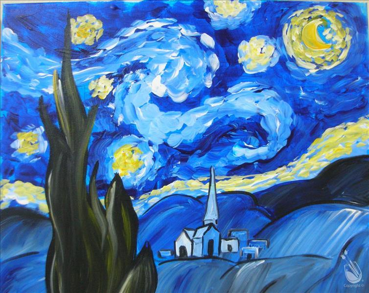 Starry Night! 3hr Class for ONLY 37!