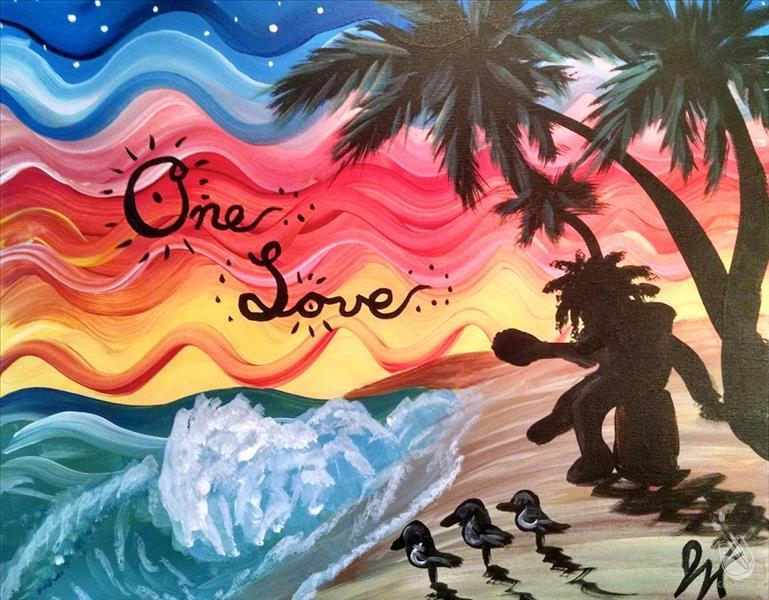 How to Paint One Love - Reggae Night!