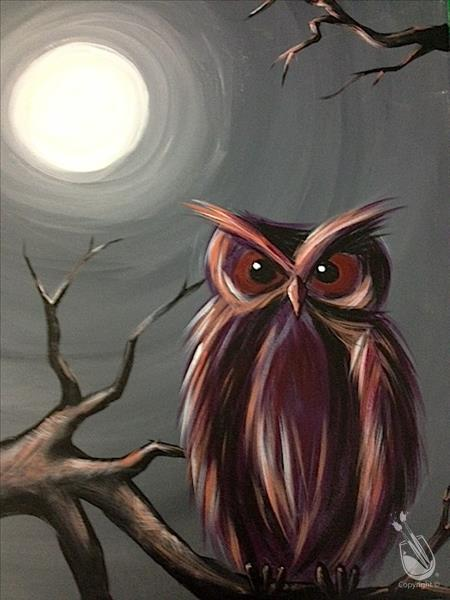 How to Paint Moonlit Owl