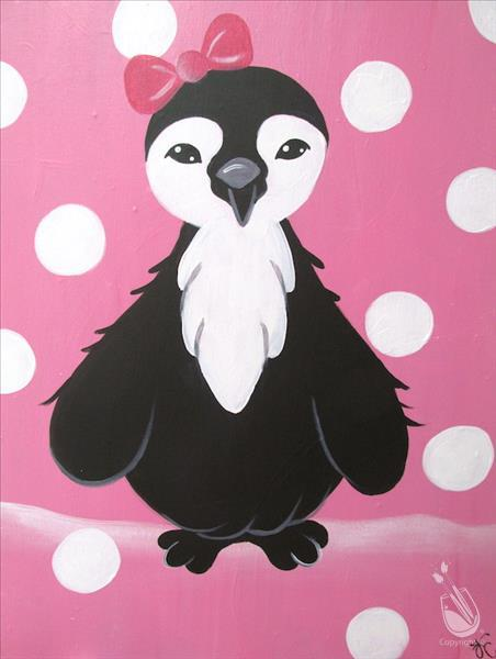 No School!  Paint a Polka-dot Penguin!!