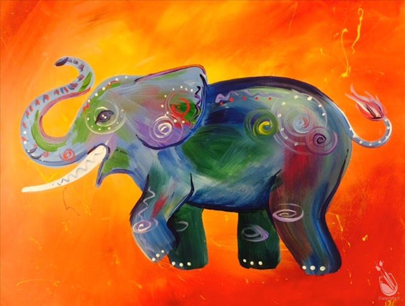 How to Paint Dancing Elephant