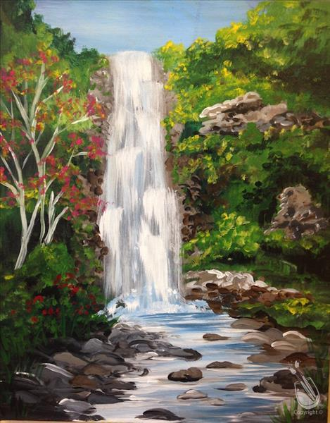 How to Paint Natural State Waterfall
