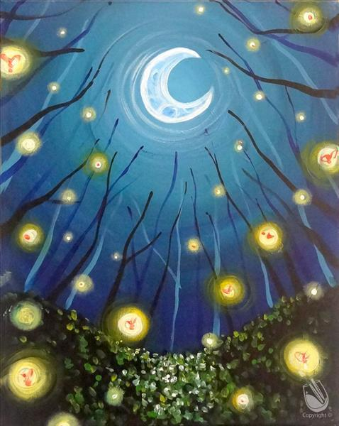 Virtual LIVE Paiting Event! Moonlit Fireflies