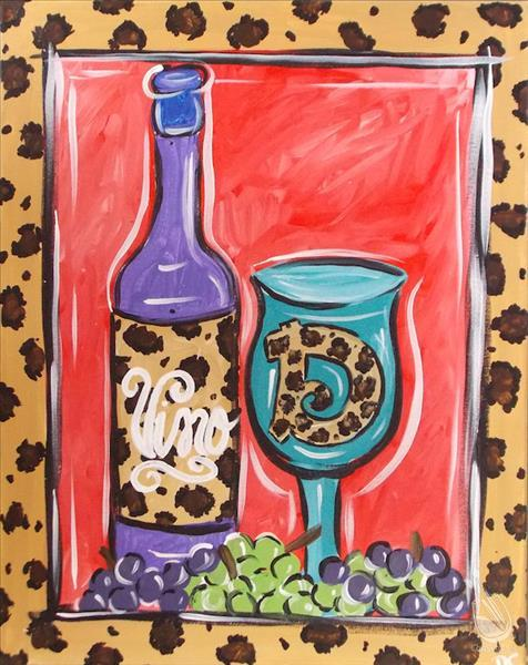 Leopard print wine glass wear your animal prints for Painting with a twist cedar hill tx