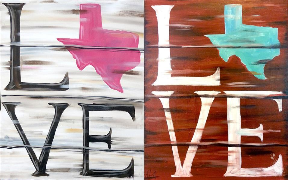 Texas Love - Pick Your Colors, Shape & Word