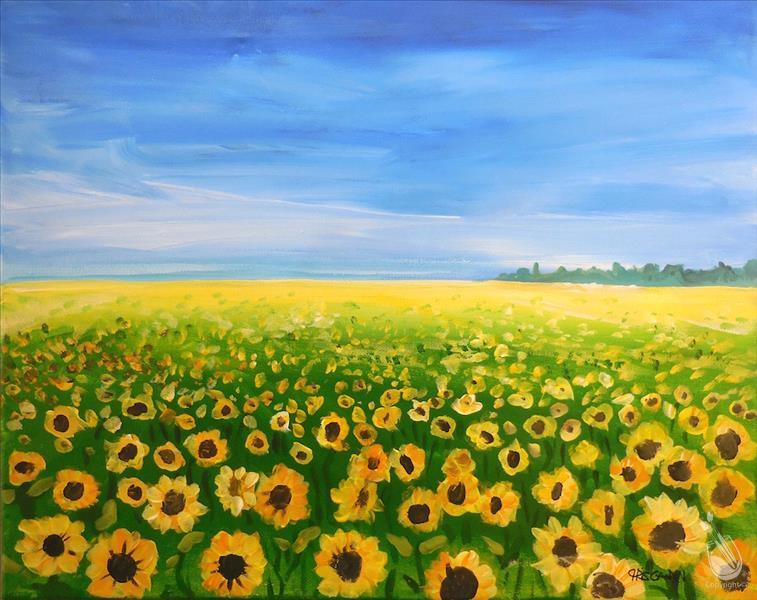 Sunflower Field & $10  Bottomless Mimosas