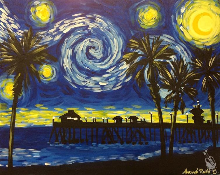 Starry Night Over HB Pier