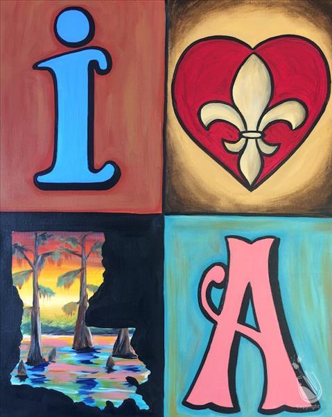 Louisiana Inspired Saturday March 9 2019 Painting With A