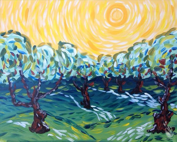 In STUDIO ~ Van Gogh Olive Trees