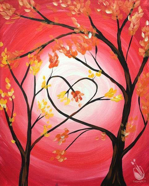 How to Paint Love Trees for Mommy and Me! *ALL AGES*
