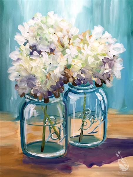 AFTERNOON ART: Happy Hydrangeas: $5 OFF