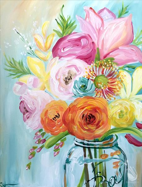 MANIC MONDAY! 	Vibrant Spring Flowers($10 off 3hr)