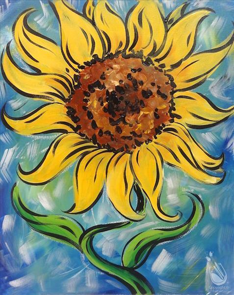 Vibrant Sunflower *Teenager Tuesday In Studio*