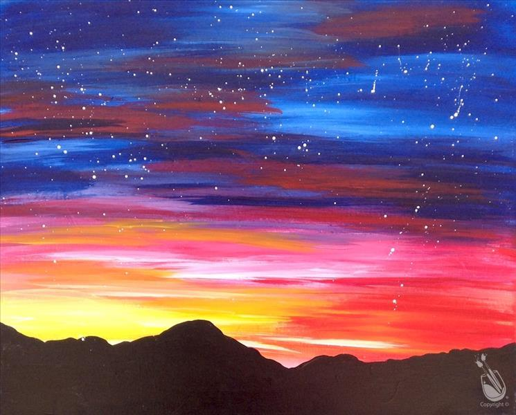 Evening Art Party- Fire in the Sky