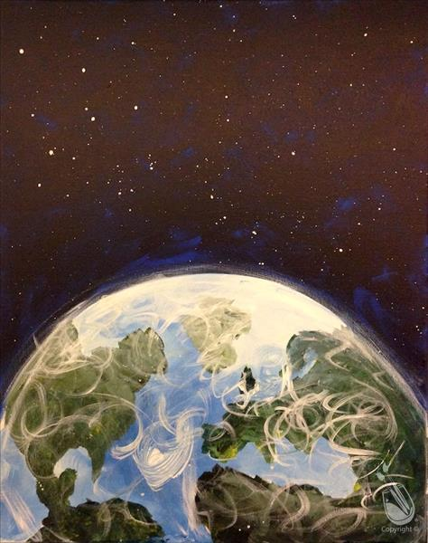 How to Paint Earth from Above FAMILY FUN DAY