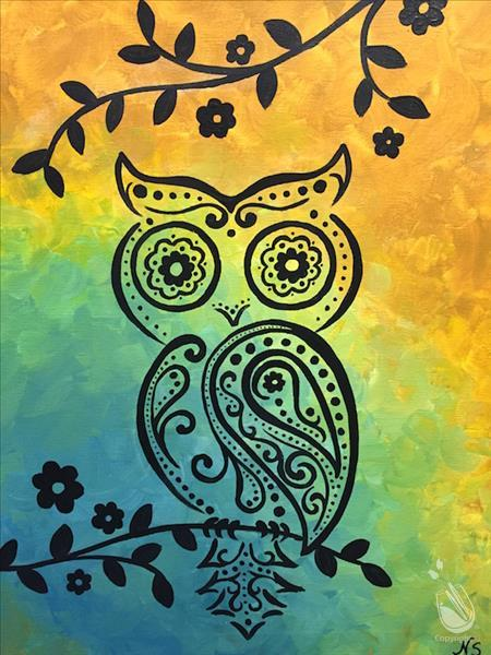 How to Paint Summer Paisley Owl