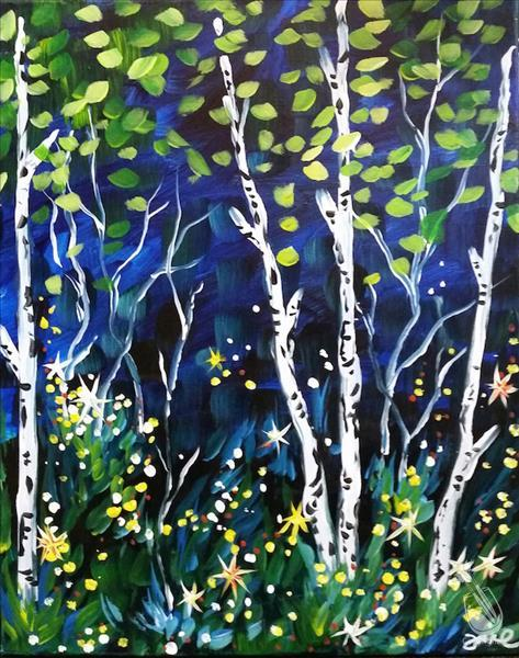 In Studio- Summer Birches (21+)