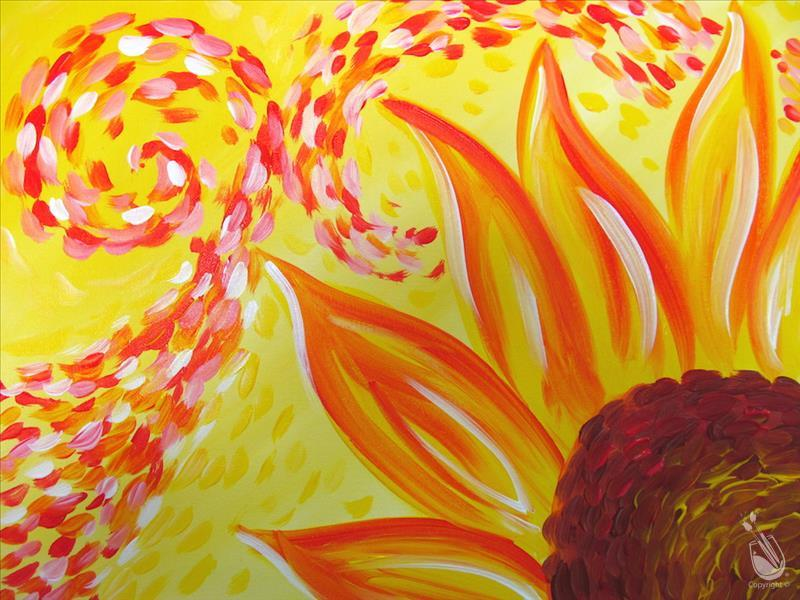 How to Paint FAMILY FUN: Kids Van Gogh's Sunflower: Ages 6+