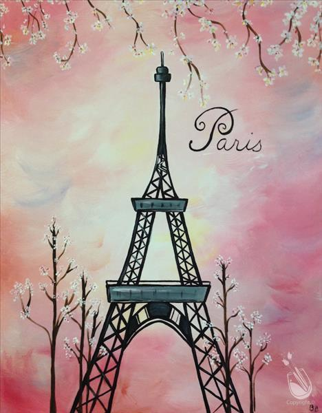 How to Paint Paris in Springtime (Age 13+)