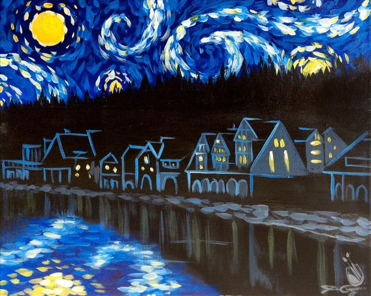 Starry Night Boathouse Row +