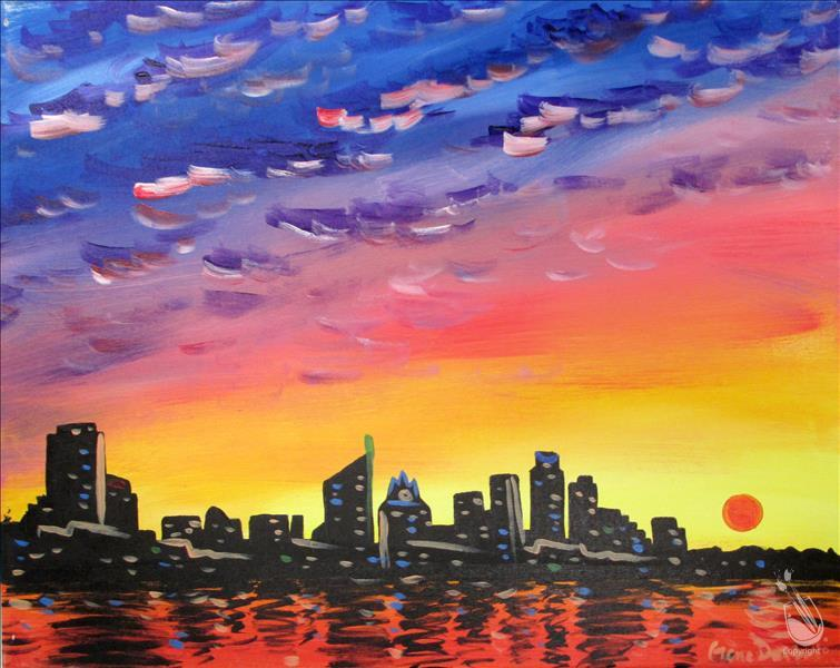 How to Paint Austin Sunrise (Adults 18+)