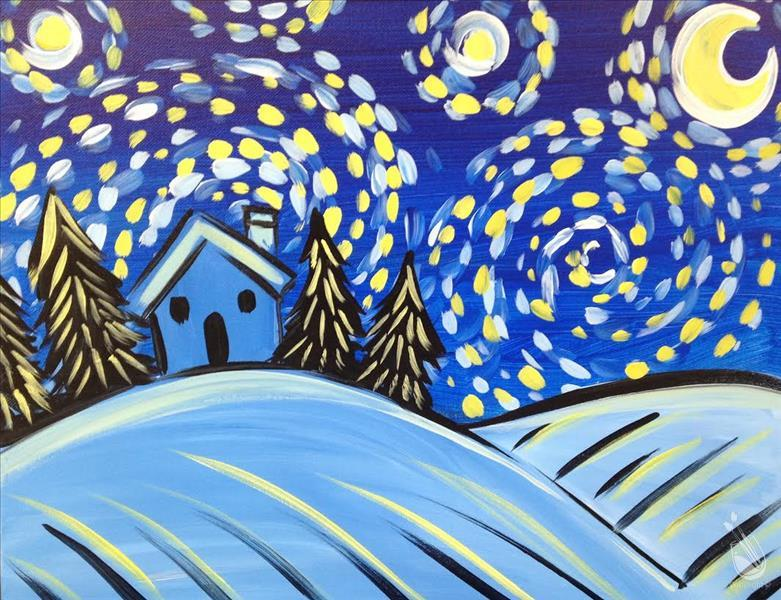 Starry Night for Kids Club-In Studio Class!!!