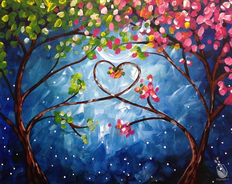 Love Trees at Night (Single Canvas!)