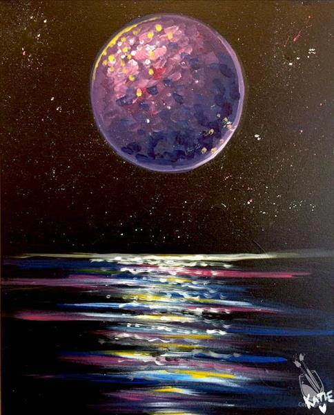 How to Paint Galactic Moon View