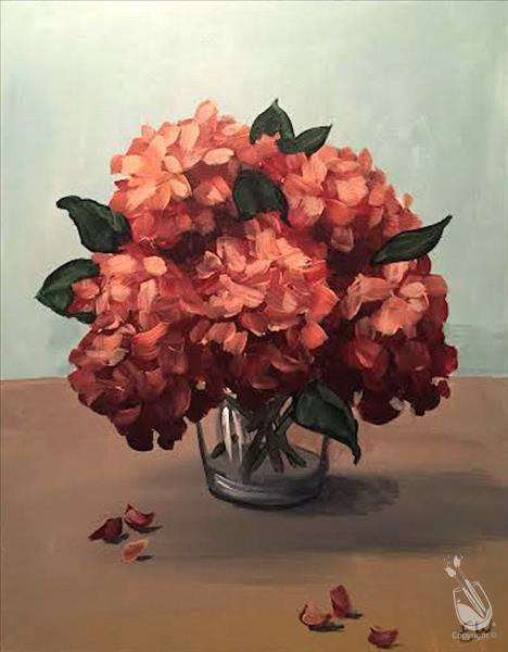 How to Paint (CANCELLED) offee & Canvas ~ Fall Hydrangeas