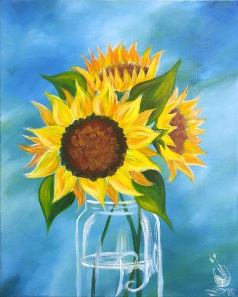 VIRTUAL OR IN STUDIO: Happy Sunflowers
