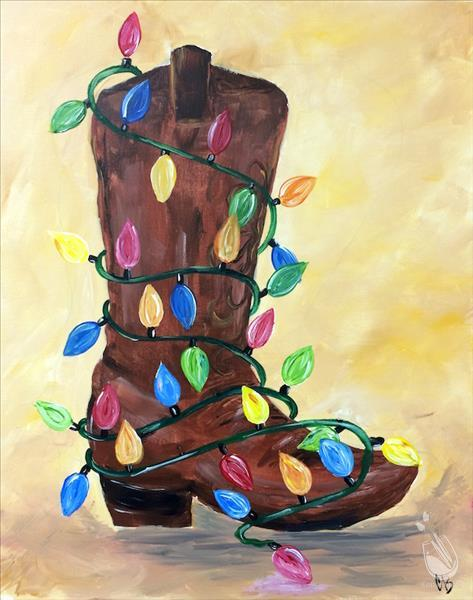 How to Paint Christmas Boot