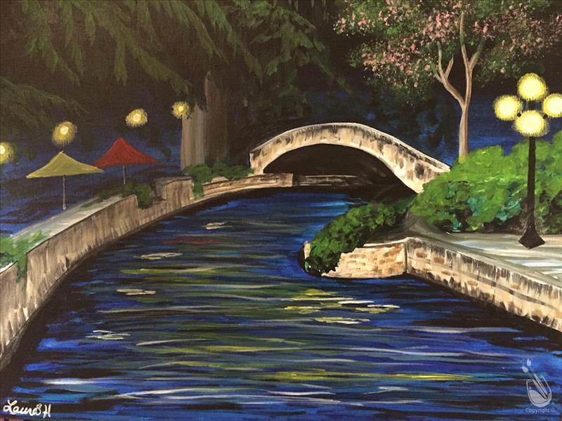 How to Paint Night at the Riverwalk (Adults 18+)
