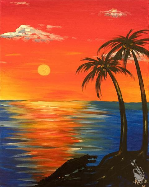 AFTERNOON ART: $5.00 OFF Gator Sunset
