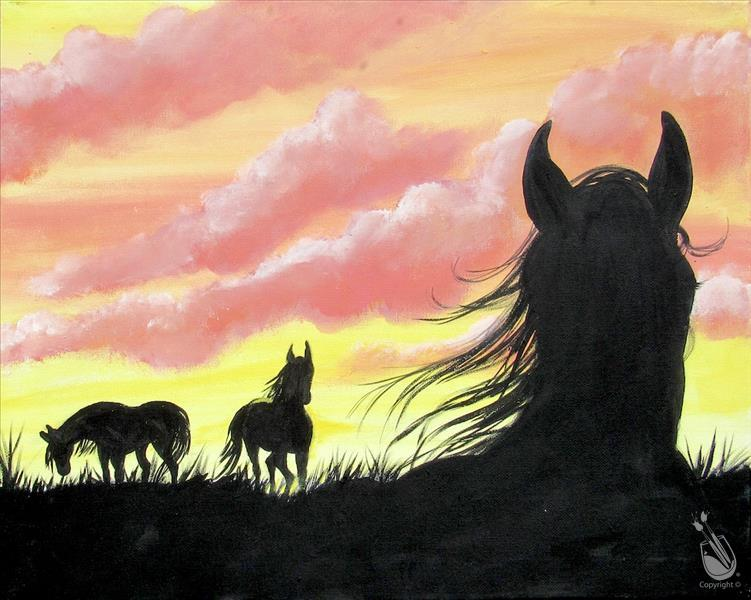 "Painting with a Purpose ""Horses on the Range"""