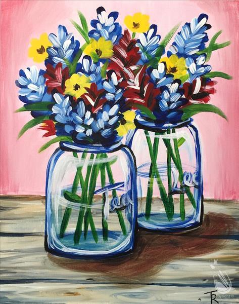 How to Paint *IN-STUDIO* Texas Wildflowers