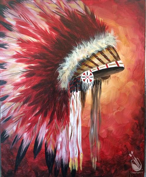 Feather Headdress (Pick Your Colors) - Adults