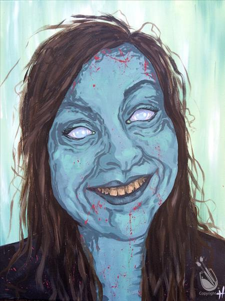How to Paint Zombie- Hers! Solo Self Portrait!