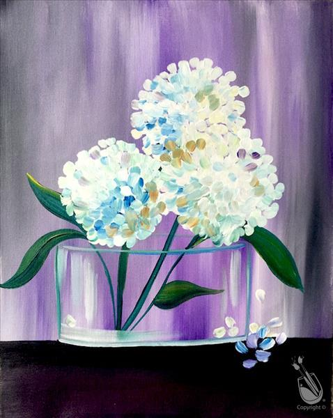 How to Paint Lavender Hydrangeas