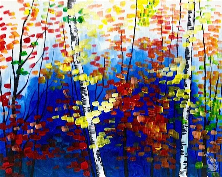 How to Paint Autumn in the Forest