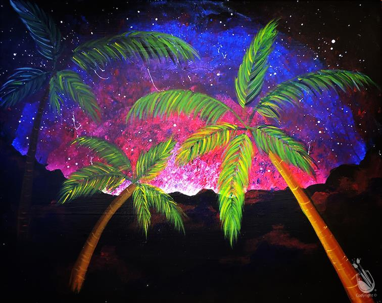 Twilight Palms in Blacklight!