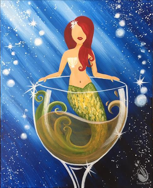 Mermaid and Merman Wine - Mermaid