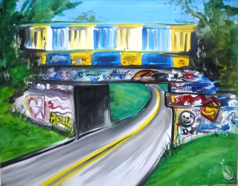 How to Paint Graffiti Bridge-Single or Couples-Personalize It!