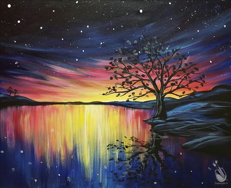 ** Cosmic Reflections** Sip N Paint pARTy
