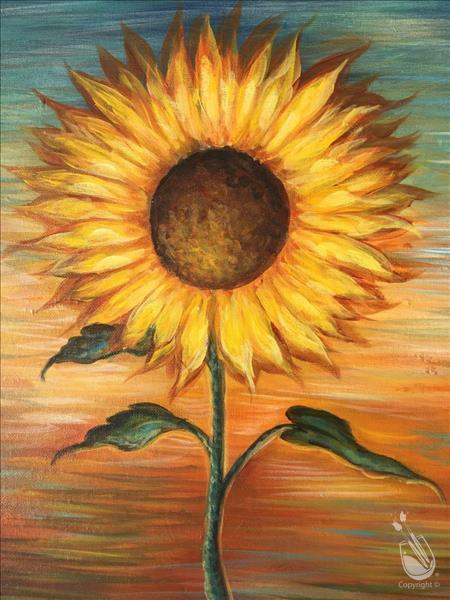 How to Paint Sunset Sunflower