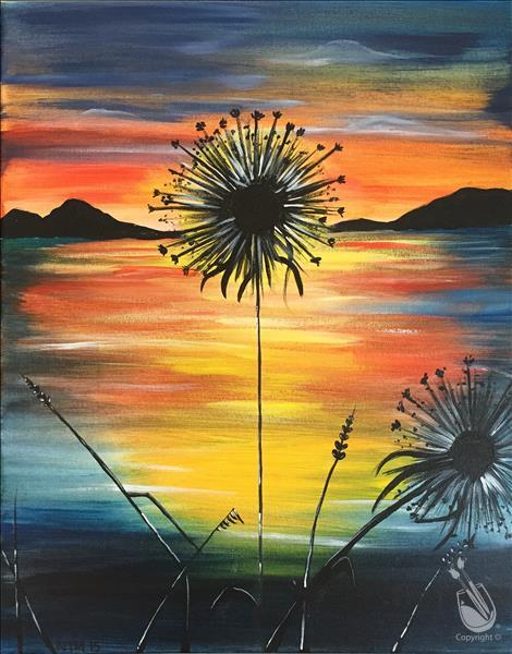 Dandelion Sunset - In Studio