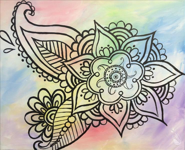 How to Paint Bohemian Flower