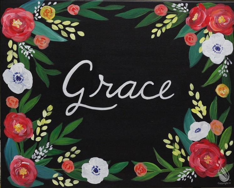 Personalized Floral Sign