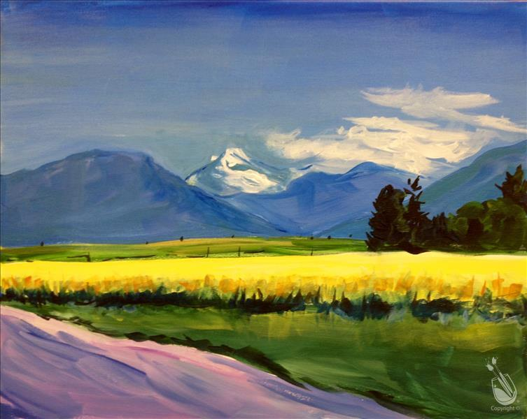 How to Paint CANCELED | Flathead Canola Field