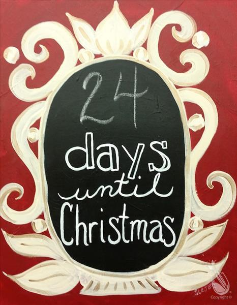 Countdown To 25 Days Of Christmas 2019.Christmas Countdown Chalkboard 10 Off Your Seat